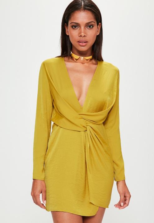 robe-courte-jaune-moutarde
