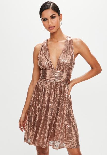robe-de-soire-en-sequins-couleur-bronze