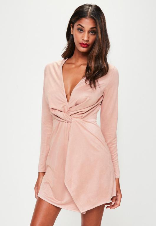 robe-rose-en-sudine-effet-drap